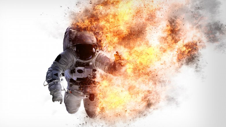 astronaut burning