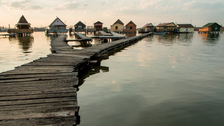Bokod floating houses, Hungary