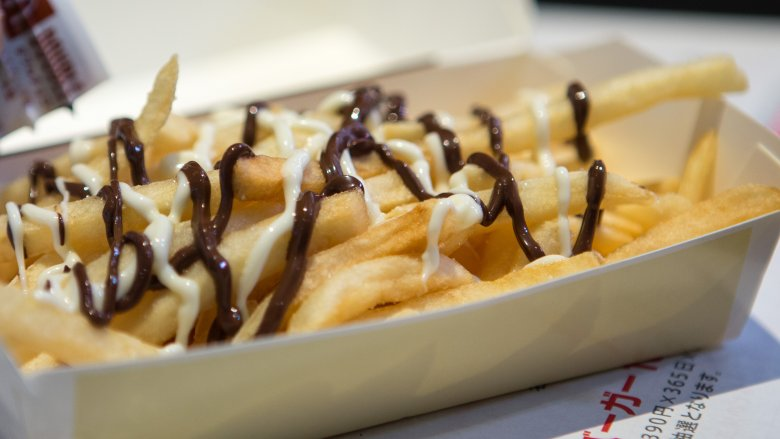 French fries and chocolate