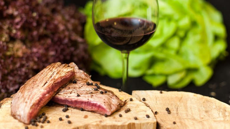 Wine and meat