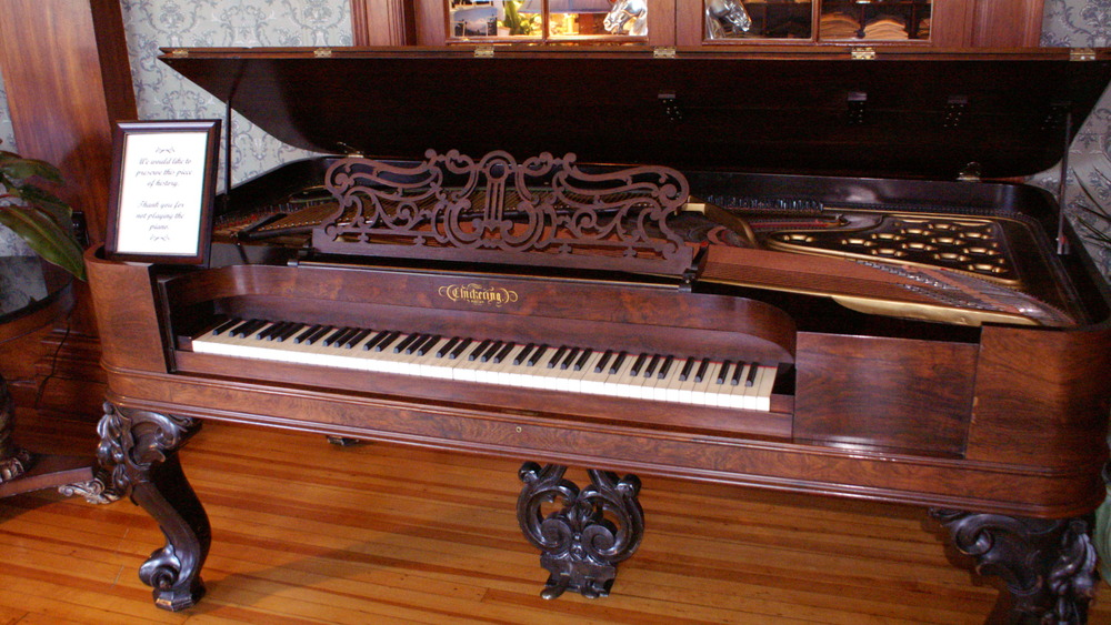 An antique Chickering piano at the Stanley Hotel