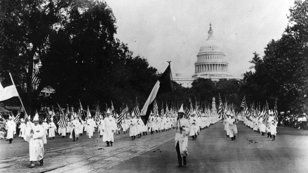 In August 1925, up to 25,000 Klansmen marched through DC