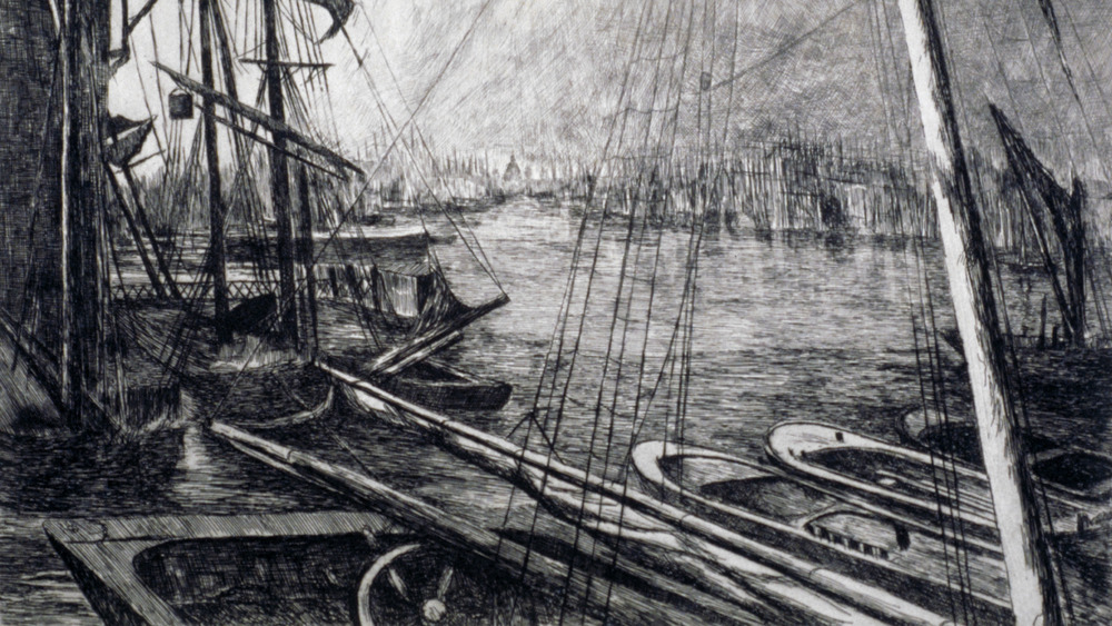 The Thames with ships