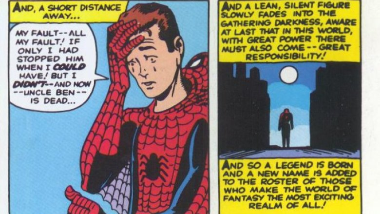 Amazing Fantasy Spider-Man last panel Uncle Ben