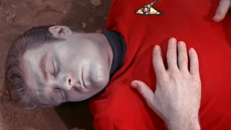 Dead red shirt from Star Trek