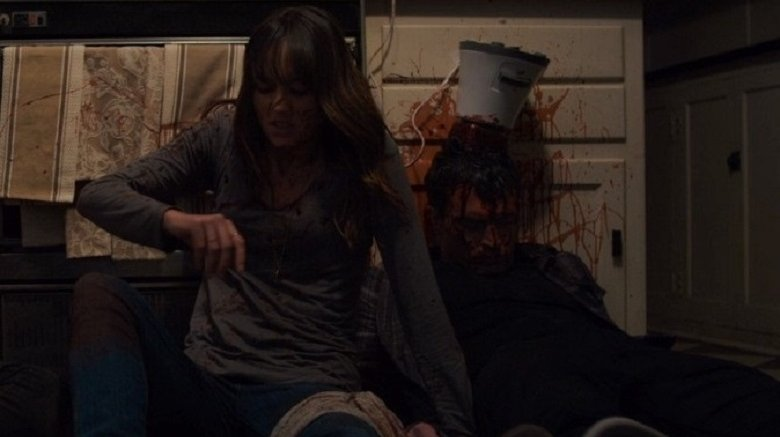 Sharni Vinson and Nicholas Tucci in You're Next
