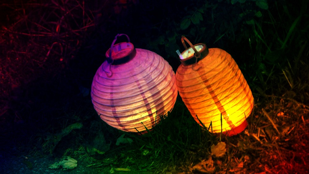 Paper lanterns used as part of the Chinese moon festival celebrated in Ottawa, Canada. September 2010.