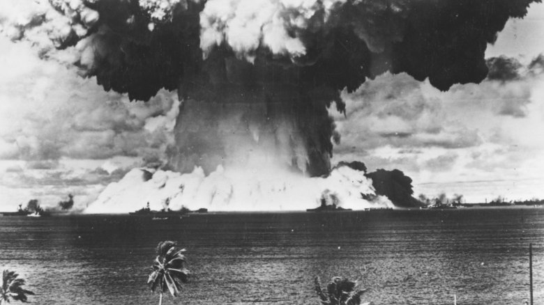 Nuclear test at Bikini Atoll