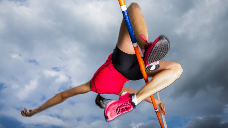 female pole vaulter