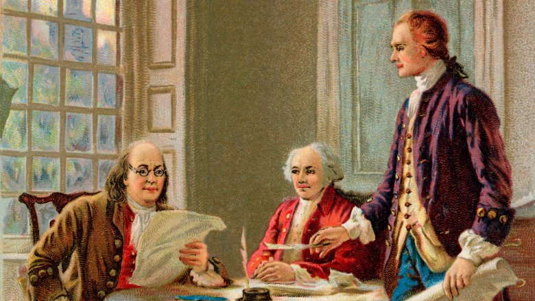 Benjamin Franklin, John Adams and Thomas Jefferson