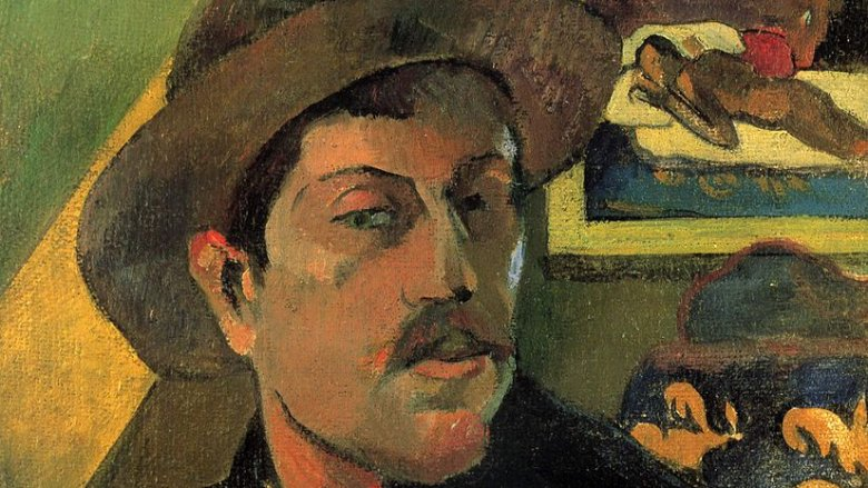 Paul Gauguin self portrait in Tahiti