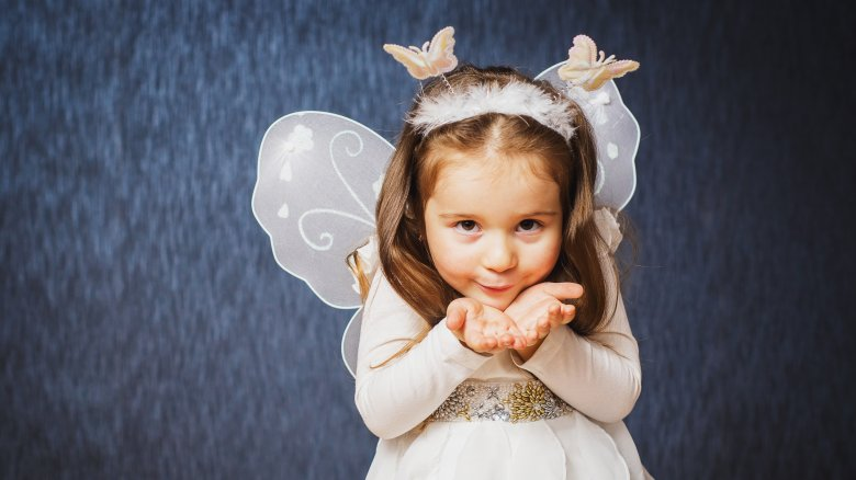 child, butterfly costume