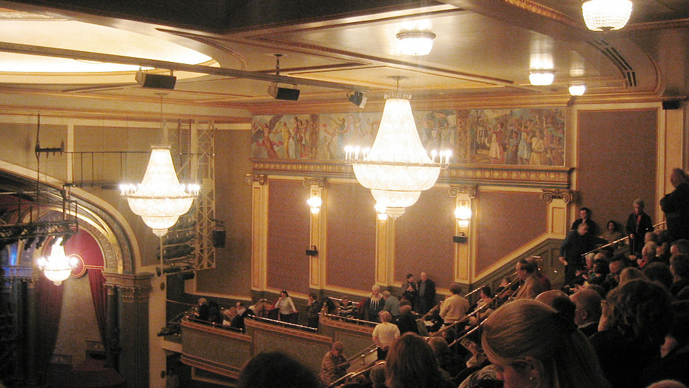 View from the balcony of the Hilton Theatre