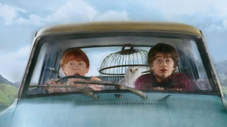 Rupert Grint and Daniel Radcliffe in Harry Potter and the Chamber of Secrets