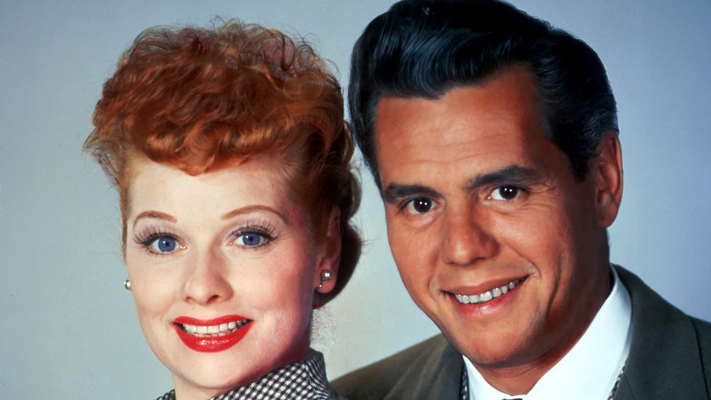 publicity photo of Lucy & Desi Arnaz smiling