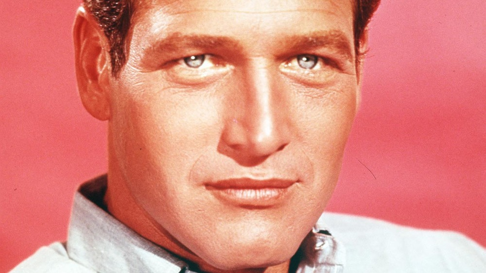 Paul Newman with red background