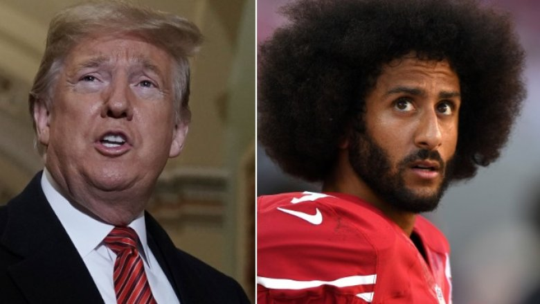 Donald Trump and Colin Kaepernick