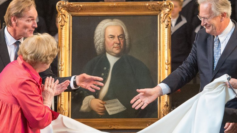 a painting of Bach