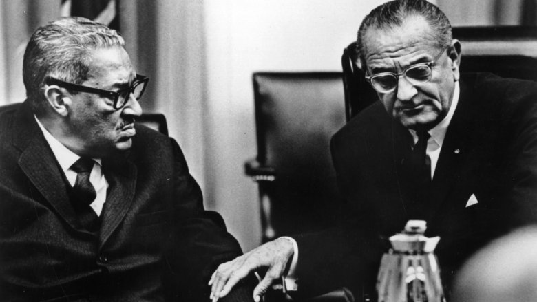Thurgood Marshall with LBJ