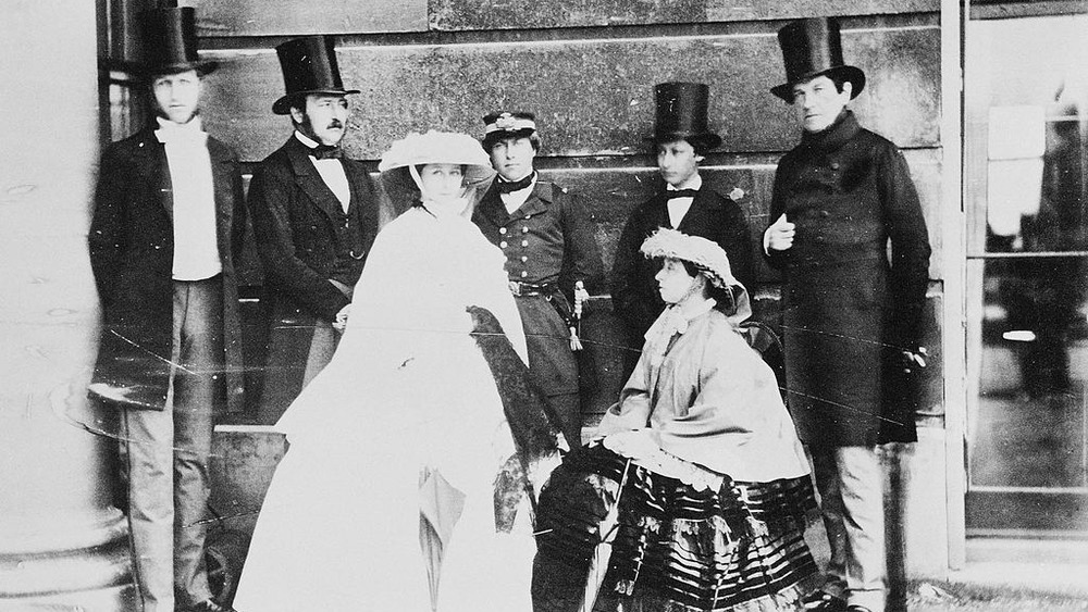Prince Albert and family wearing silk hats