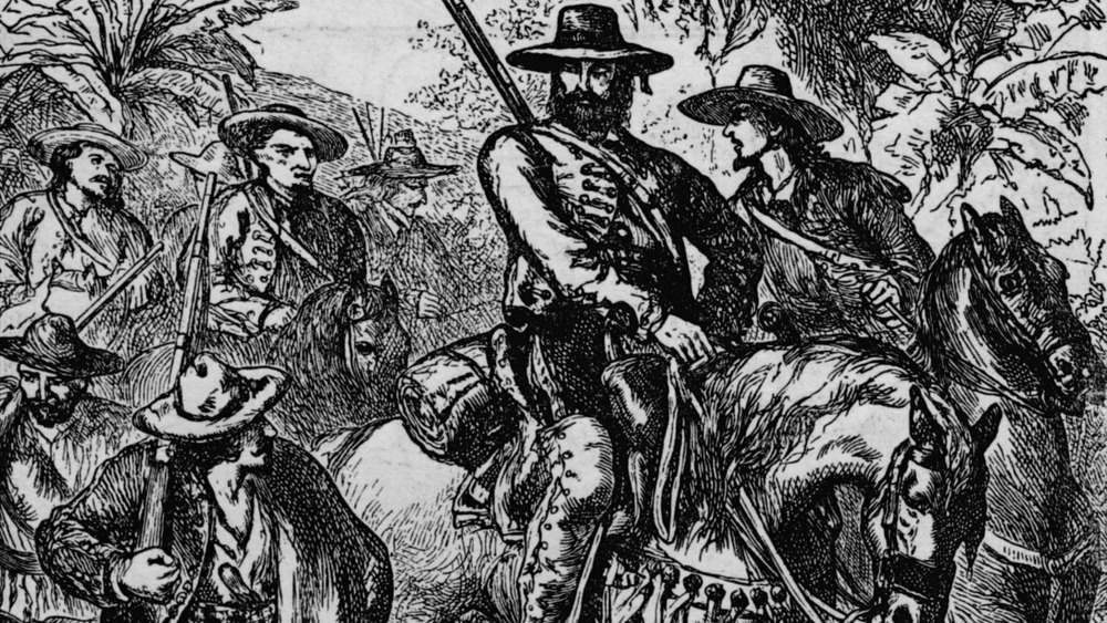 Illustration of Mexican troops during the Texas revolution