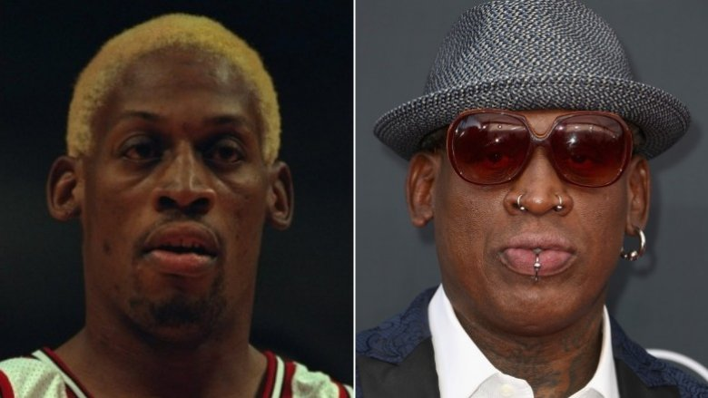 Dennis Rodman then and now